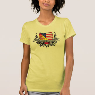 Bandera hispanoamericana del escudo tee shirt