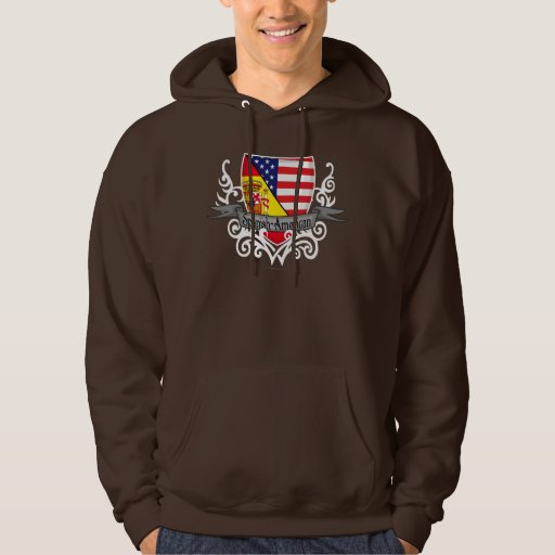 Bandera hispanoamericana del escudo sudadera