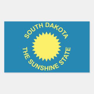 Bandera histórica de Dakota del Sur Pegatina Rectangular