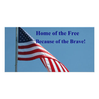 ¡Bandera, hogar del libre! Tarjetas Con Fotos Personalizadas