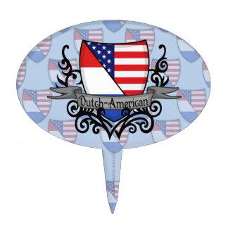 Bandera Holandés-Americana del escudo Palillos De Tarta