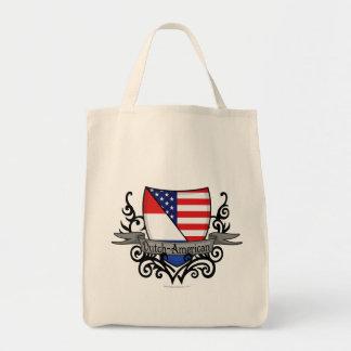 Bandera Holandés-Americana del escudo Bolsas