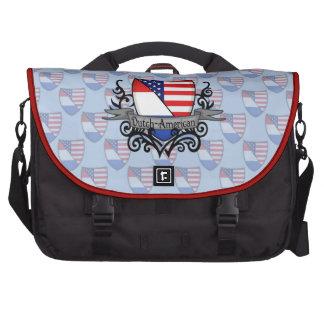 Bandera Holandés-Americana del escudo Bolsas De Portatil