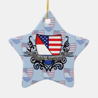 Bandera Holandés-Americana del escudo Adorno De Cerámica En Forma De Estrella