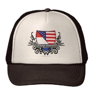 Bandera Holandés-Americana del escudo Gorra