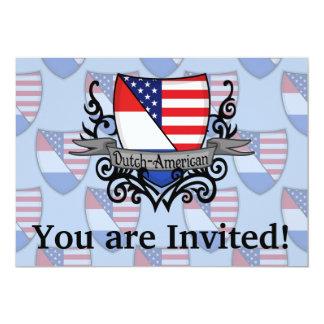 """Bandera Holandés-Americana del escudo Invitación 5"""" X 7"""""""