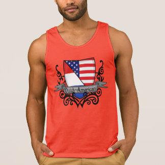 Bandera Holandés-Americana del escudo