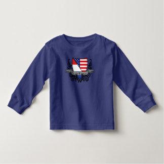 Bandera Holandés-Americana del escudo Playeras