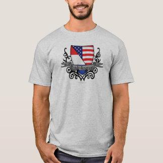 Bandera Holandés-Americana del escudo Playera