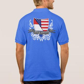 Bandera Holandés-Americana del escudo Polos
