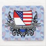 Bandera Holandés-Americana del escudo Tapetes De Ratón