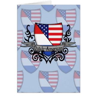 Bandera Holandés-Americana del escudo Tarjeta Pequeña