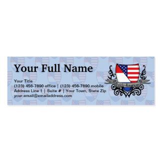 Bandera Holandés-Americana del escudo Tarjetas De Visita Mini