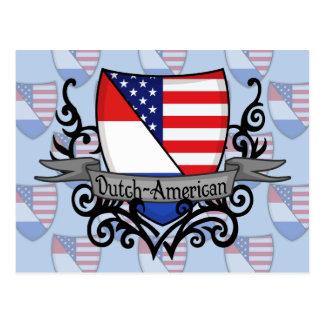 Bandera Holandés-Americana del escudo Postales