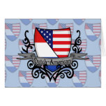 Bandera Holandés-Americana del escudo Tarjetón