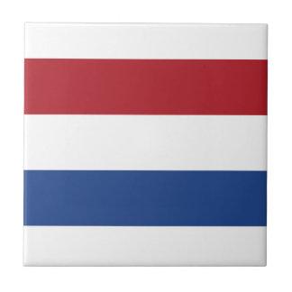 Bandera holandesa azulejo cuadrado pequeño