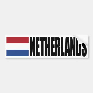 Bandera holandesa pegatina para coche