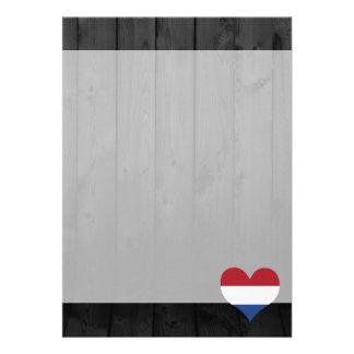 """Bandera holandesa coloreada invitación 5"""" x 7"""""""