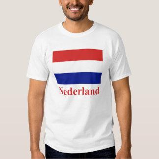 Bandera holandesa con nombre en holandés playeras