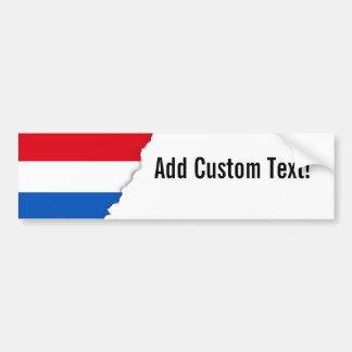 Bandera holandesa de Holanda Pegatina Para Auto