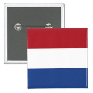 Bandera holandesa de Holanda Pin Cuadrado