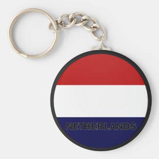 Bandera holandesa de la calidad de Roundel Llavero Redondo Tipo Pin