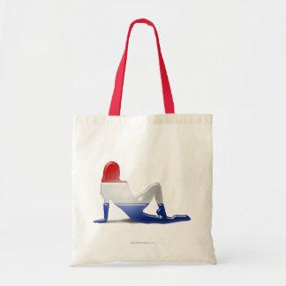 Bandera holandesa de la silueta del chica bolsa