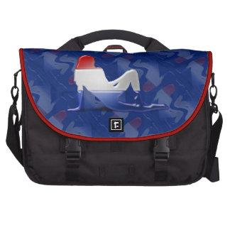 Bandera holandesa de la silueta del chica bolsa para ordenador