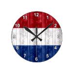 Bandera holandesa de madera reloj