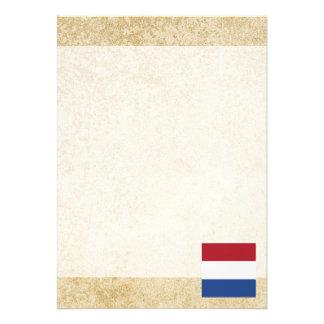 """Bandera holandesa de oro invitación 5"""" x 7"""""""
