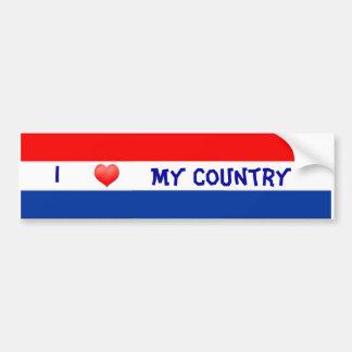 Bandera holandesa de parachoques pegatina para auto