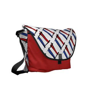 Bandera holandesa del cepillo bolsas messenger