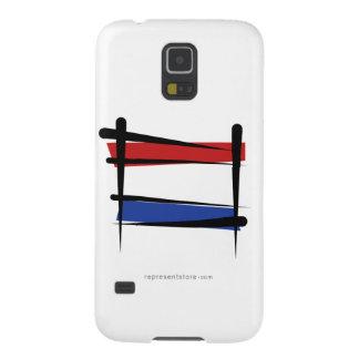 Bandera holandesa del cepillo carcasas de galaxy s5