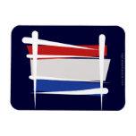 Bandera holandesa del cepillo imán rectangular