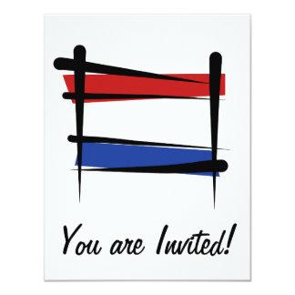 """Bandera holandesa del cepillo invitación 4.25"""" x 5.5"""""""