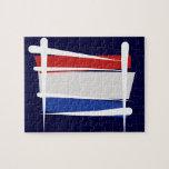 Bandera holandesa del cepillo puzzles con fotos