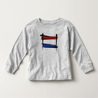 Bandera holandesa del cepillo remera