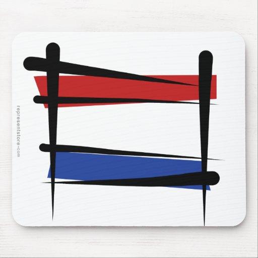 Bandera holandesa del cepillo tapetes de ratón