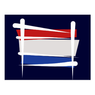 Bandera holandesa del cepillo tarjeta postal