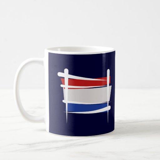 Bandera holandesa del cepillo tazas