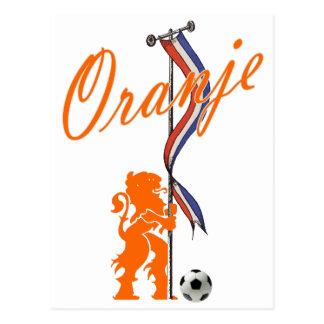 Bandera holandesa del fútbol total de la bandera d tarjetas postales