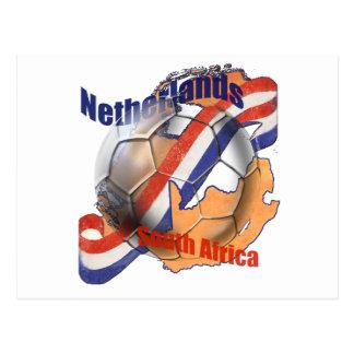 Bandera holandesa del holandés del balón de fútbol postales
