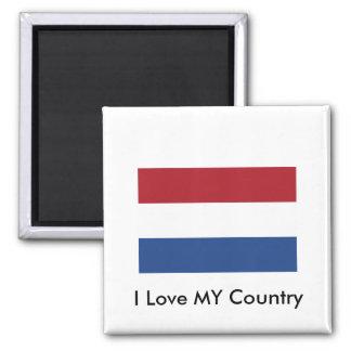 Bandera holandesa el MUSEO Zazzle Imán