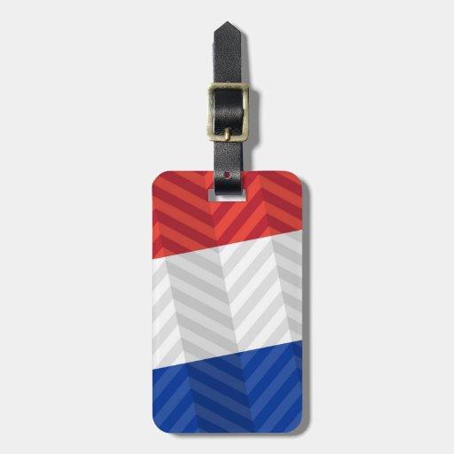 Bandera holandesa etiquetas para maletas