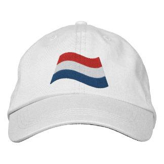 Bandera holandesa gorras bordadas
