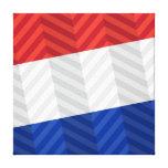Bandera holandesa impresión en lienzo estirada