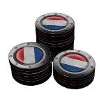Bandera holandesa industrial con el gráfico de ace