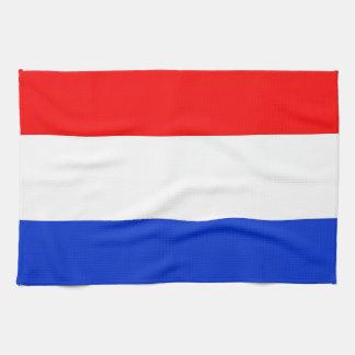 Bandera holandesa toalla de mano