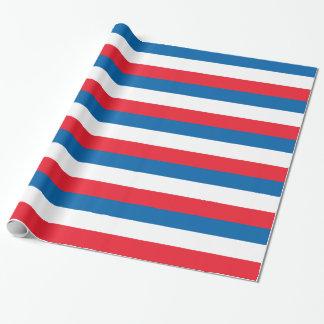 Bandera holandesa papel de regalo