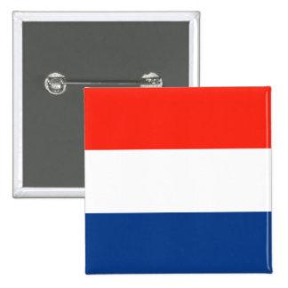 Bandera holandesa pin cuadrado